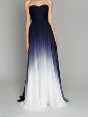 bridesmaids dresses? navy blue ombre? @Monica Perez @Nicole Dishner @Nicole Glenn  2012 June « The Pretty Party