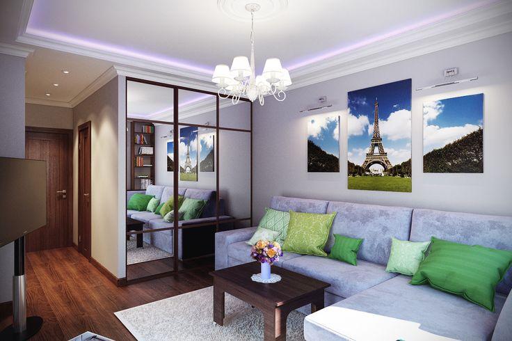 Двух-комнатная квартира в ЖК Город Набережных, Химки. Площадь квартиры 46 м2.