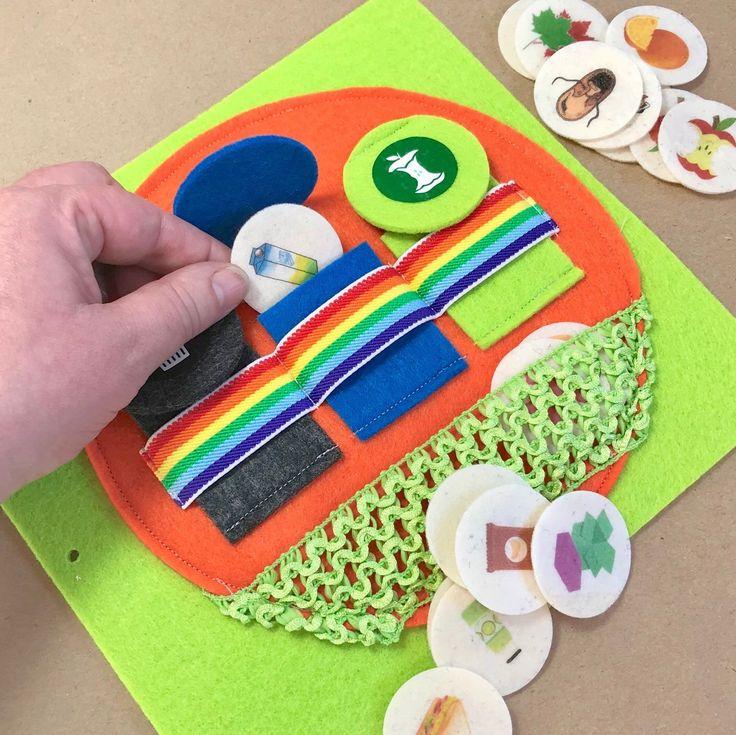 """Introducing the """"What Can I Recycle?"""" Quiet Book Page For The TinyFeats Busy Book. Help kids understand what can be ♻️ recycled or composted 🍎. Its a powerful way to teach kids the importance of being Eco Friendly! #greentoys #ecofriendly #educationalgam"""