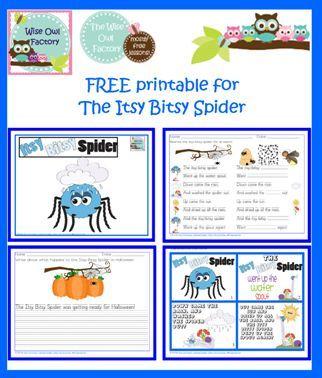 Science Spiders Worksheets