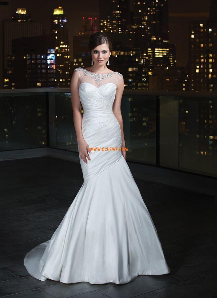 Herz-Ausschnitt Reißverschluss Natürlich Brautkleider 2014