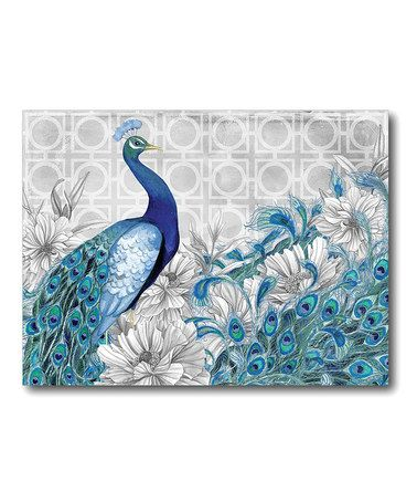 Take a look at this Gray Peacock II Canvas Wall Art by COURTSIDE MARKET on #zulily today!