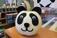 Panda Pumpkin! Would be super cute with the white pumpkins.