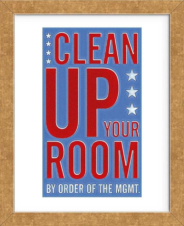 Clean up your room framed cleaning frame north