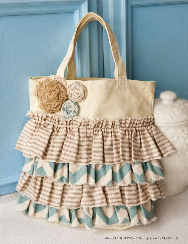 Dress up your tote bag with a touch of feminine flair with this free how-to article from Haute Handbags. Sierra Hocklander embraces her love of all things ruffles and roses in this tote redesign and shares how you can do the same with just a needle, thread, and a few fabric scraps.
