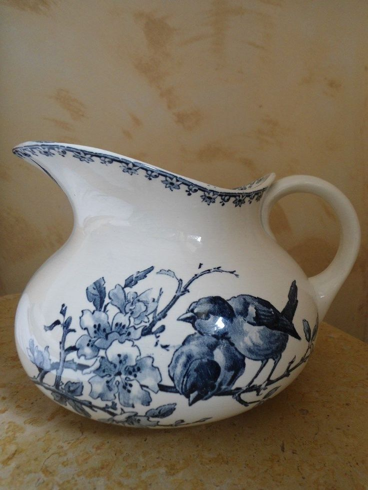 Ancien broc en faience sarreguemines digoin favori decor for Modele de faience