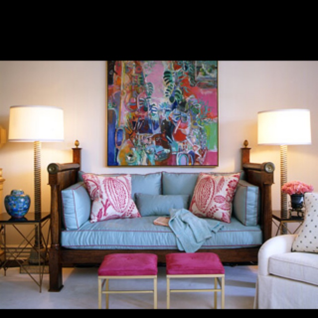 Great Daybed Painting And Have Always Loved The Manuel Canovas Fabric Used For Pillows