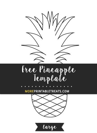 pineapple template printable templates printables shapes cut stencil stencils flower paper patterns crafts pattern shape quilt cutting moreprintabletreats discover