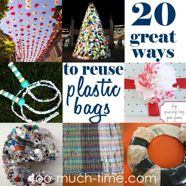 78 ideas about plastic bag crafts on pinterest plastic for Plastic project ideas
