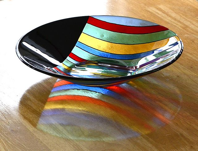 Fused glass bowl by Niven Glass Originals, via Flickr