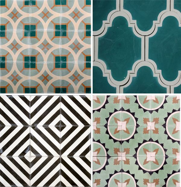 Blue Patterned Bathroom Tiles Part - 38: Marrakech Design Tile Co _3