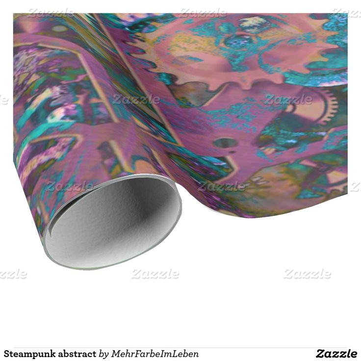 Steampunk abstract wrapping paper