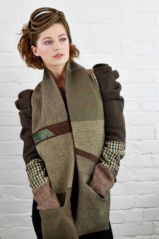 Tweed headwear & jackets available at www.saratiara.com