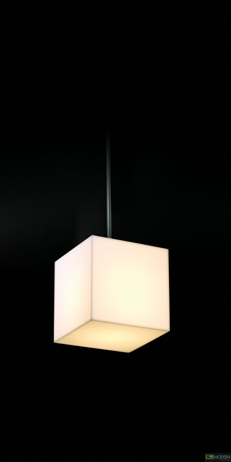 The Q single cubed pendant light. $152 #pendant #cubelight #cubependant  #cube