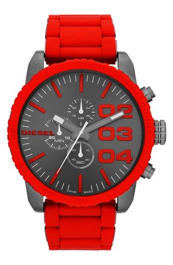 DIESEL® 'Franchise' Large Chronograph Watch, 52mm