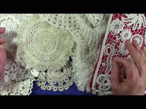 Introduction to how to make a piece of crochet lace - YouTube