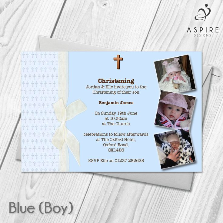 wording for party invitations uk%0A Personalised Baby Christening Baptism Thanksgiving Invitations Custom Made  With Your Own Photos and Text