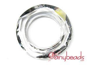 Austrian Swarovski Crystal Elements 4139 Cosmic Ring 14mm - Clear Crystal