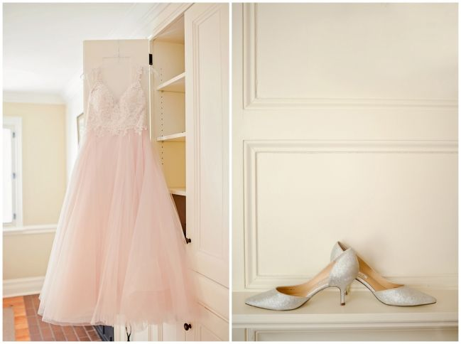 Bridal shoes and wedding dress   Langdon Hall   Melissa Avey Photography