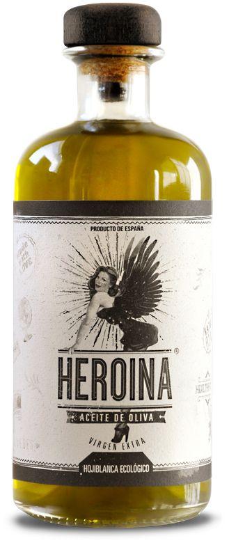 Heroina - botella de aceite virgen extra variedad hojiblanca ecológico