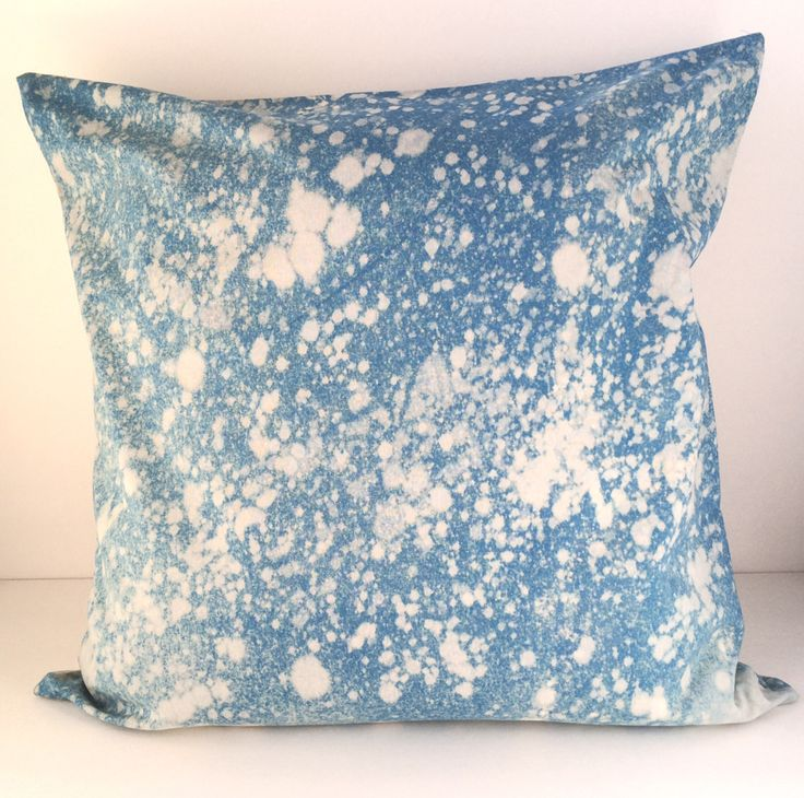 Hand Dyed 'Snow Burst' Pillow, 20x20, named by my 3 year old toddler :) by Carrie Joan Studio #Etsy #pillows
