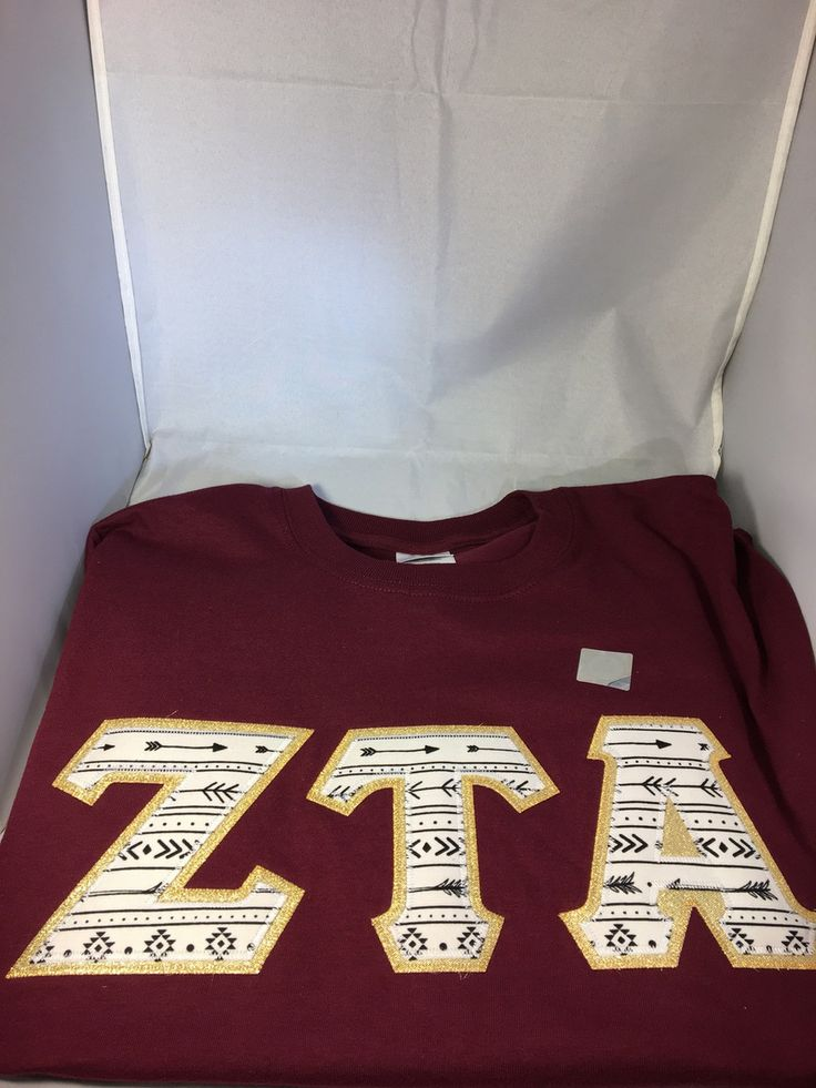 Sorority Arrow Double Stitched Letter Shirt- Maroon - Brothers and Sisters' Greek Store
