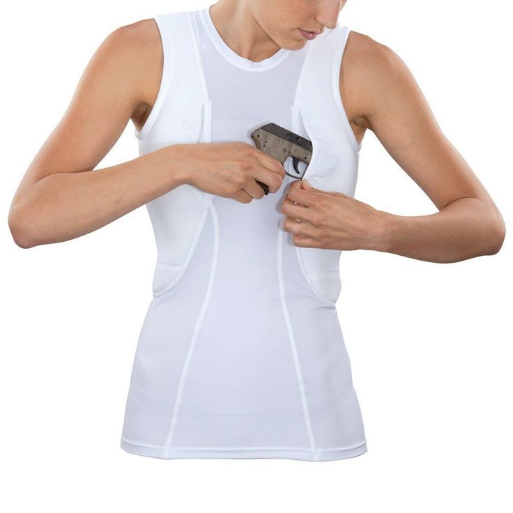 5.11 Women's Holster Shirt X-Large Concealed Carry White Sleeveless Concealment #511Tactical #Shirt
