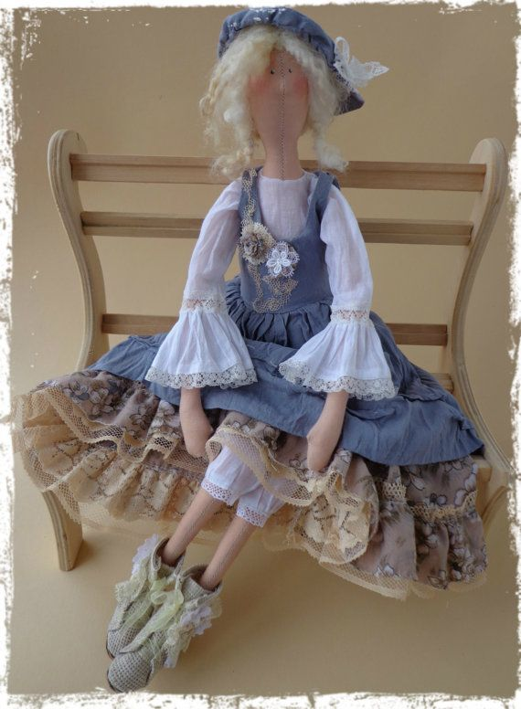 Textile Interior doll Tilda boho style by LilyDollsGifts on Etsy ♡ lovely doll