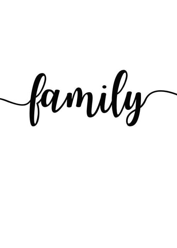 Family Word Svg Png Jpg Cricut Silhouette Digital File Etsy In 2021 Word Families Family Word Art Family Poster