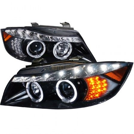 Spec-D 2LHP-E9005G-8V2-TM | 2007 BMW 3 Series Smoke Projector Headlights for Coupe/Sedan/Wagon