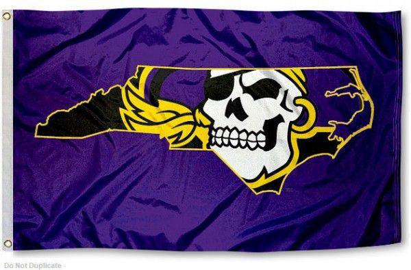 ECU+Mascot   Ecu East Carolina Pirates 2-Sided Flag Banner East Carolina Football ...
