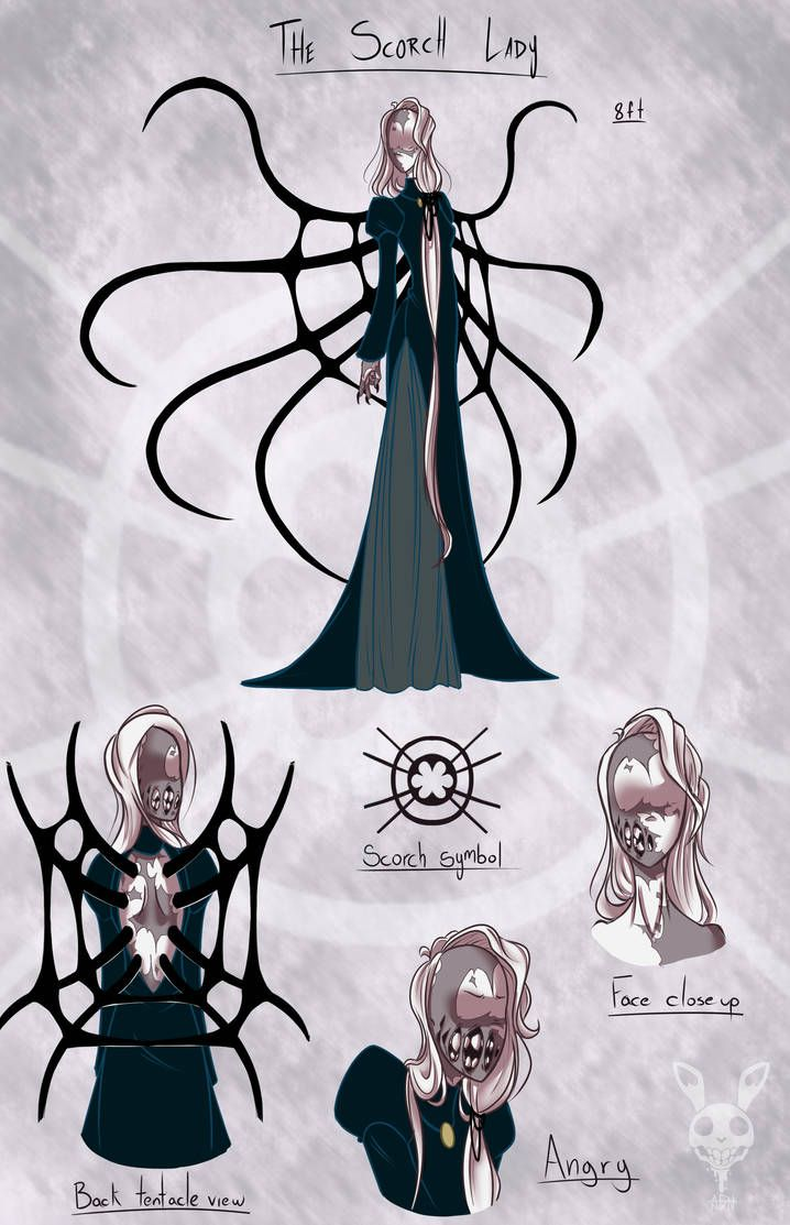 The Scorch lady BIO by A-Dreamare | creepypasta | Drawings