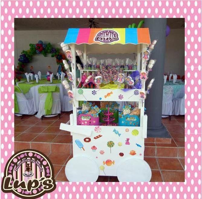 Carrito de dulces candy bar pinterest for Carrito bar de madera