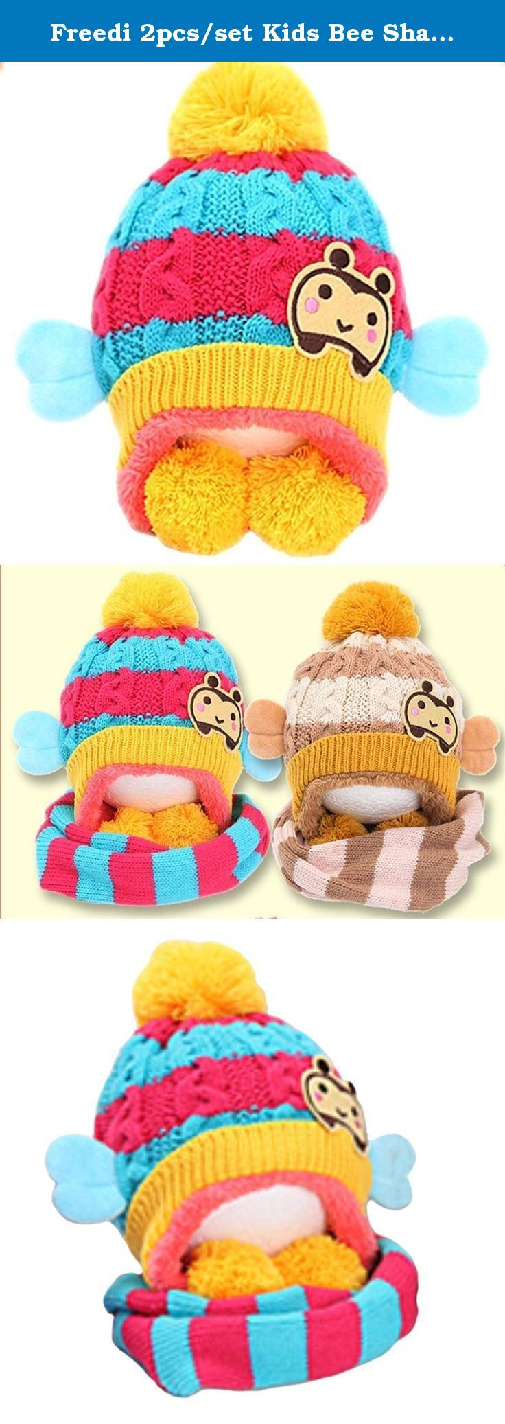 Freedi 2pcs/set Kids Bee Shape Knitting Wool Hat and Scarf Set Winter for Baby Yellow. Soft and light weight scarf with dreamlike gradual colors,suitable for wearing in the winter and autumn,it goes with your baby's beautiful coat or jacket,keep your baby warm and protect your baby's neck from the wind.