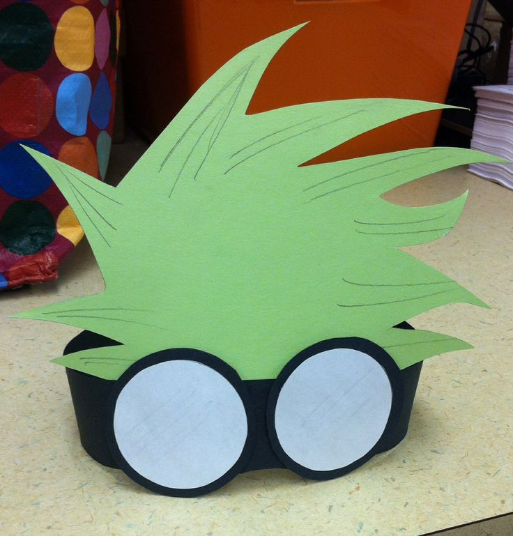 Crazy Scientist Hair and Goggles Headband.  Library Craft 2014.