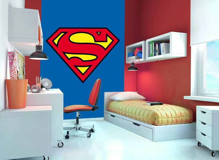 20 best licensed wall murals everyone will love images on pinterest wallpaper murals wall - Superman room decorating ideas ...