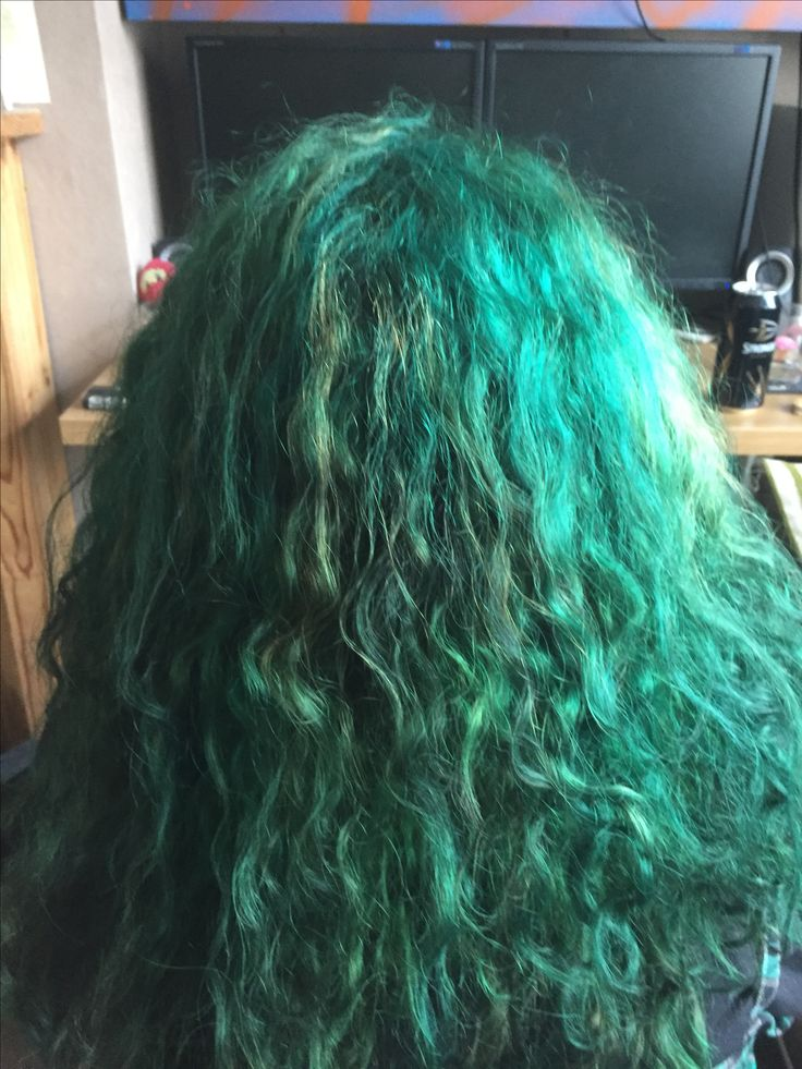 Green Curls with Directions la riche in shades Alpine Green and Apple Green