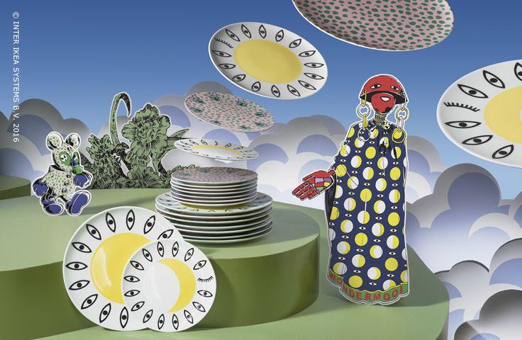 """Zin in fantastische en leuke gerechtjes? De tijdelijke collectie GLÖDANDE zal jong en oud gegarandeerd verrassen met borden in 5 diverse stijlen. #IKEABE  #GLÖDANDE #TijdelijkeCollectie   """"GLÖDANDE limited edition porcelain plates in five styles – fantastic for a big meal or just a side dish. #IKEABE #GLÖDANDE #limitededition"""