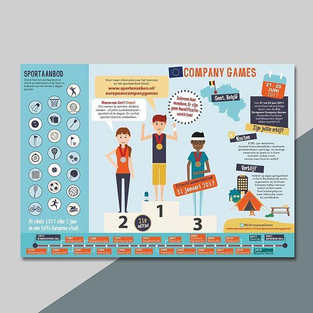 Ontwerp flyer/infogaphic voor Sport&Zaken #companygames #infographic #flyer #ontwerp #studiobont