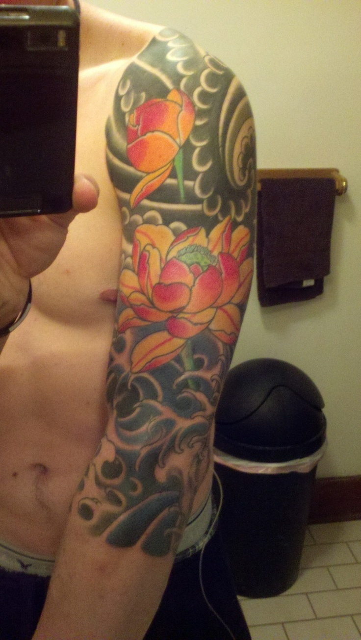 Japanese calf tattoos by durb - Japanese Tattoo Sleeve