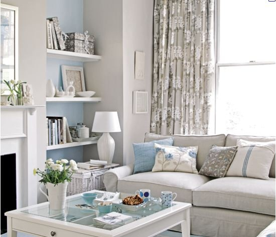 White & grey with a touch of palest blue!!!  Very pretty!!!!