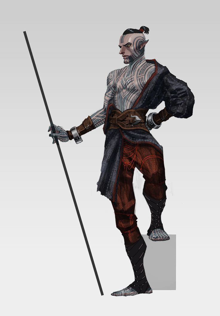 Matt Rhodes. Concept artist at Bioware. Works on Dragon Age series. Character Designs for Dragon Age II. Early Fenris concept. #male  #dark