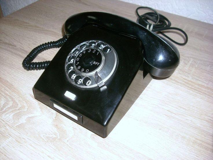 Altes NORDFERN W63a Wählscheibe Behörden Telefon Bakelit RFT