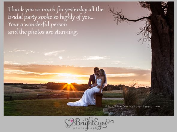 Mornington Peninsula Wedding Photographer, Sunset wedding photo, Peppers Moonah Links, www.brighteyesphotography.com.au