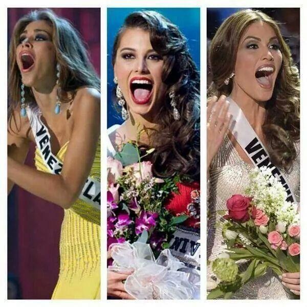Las reacciones de las tres ultimas Miss universo venezolanas al triunfar.