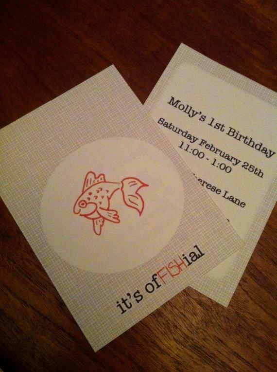 fish party invites