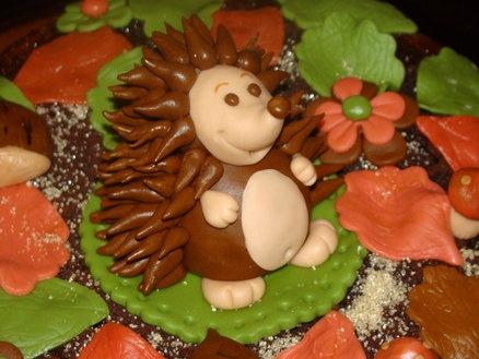 Torta autunnale con riccio  Cake by Maria Arno - Le Torte di Mary