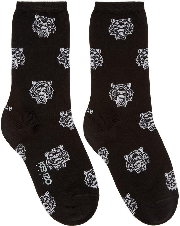 Chaussettes noires Tiger