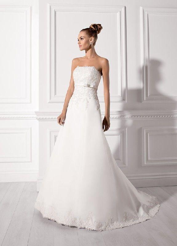 A Line Spitze Chiffon Hochzeitskleider EHS91306019