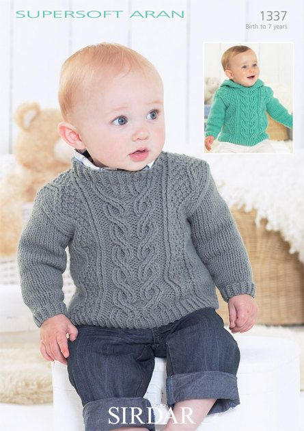 Sweaters in Sirdar Supersoft Aran - 1337 - Downloadable PDF. Discover more patterns by Sirdar at LoveKnitting. The world's largest range of knitting supplies - we stock patterns, yarn, needles and books from all of your favourite brands.